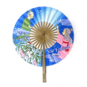 Round shape Folding Fan Tanabata