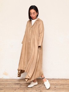 Linen Dobby Gather Coat