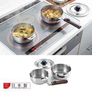 Yukihira Sausepan Stainless Steel set [ 16cm/18cm ][Made in Japan]