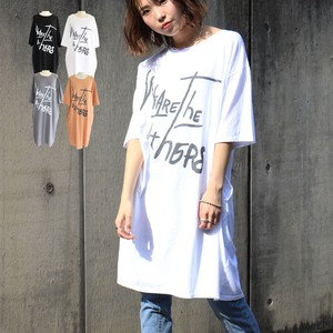 Big T-shirt Tunic One-piece Dress T-shirt One Piece Leisurely