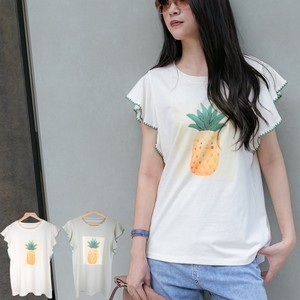 Pineapple Design Frill Top
