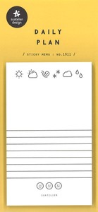 Exclusive Use Sticky Note Sticker Daily Plan Sheet 50 Pcs