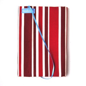 Free Size Book Cover Red Stripe
