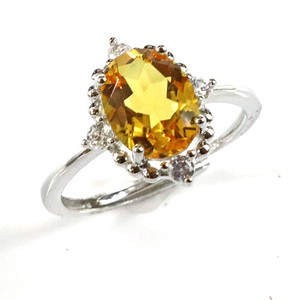 Citrine Natural stone Ring Ring