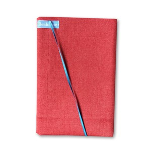 Free Size Book Cover Denim Red