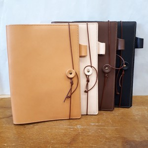 [2019NewItem] Tan Leather Pocketbook Cover A5 size Cow Leather