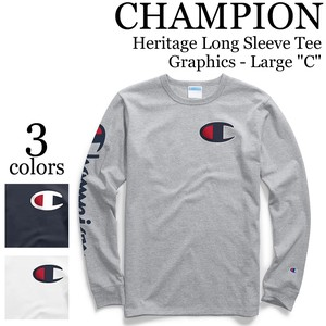 《即納》CHAMPION《2019年春夏》 ■L/S TEE■Y07789■Heritage Long Sleeve Tee Graphics - Large C