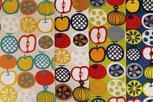 Fabric 4 Colors LE DEPART Floral Pattern Fruit Vegetables New Pattern