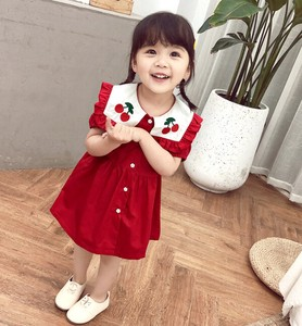 One-piece Dress Kids Attached