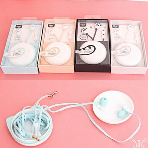 Korea Phone Smartphone Earphone Cat Foot Cat Paw Head Phone 3.5 Attached Case