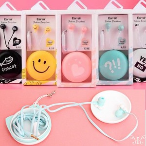 Korea Phone Smartphone Earphone Button Attached Head Phone 3.5 Attached Case