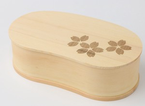 Sakura Finish Wooden Laser Processing Bento Box Sakura