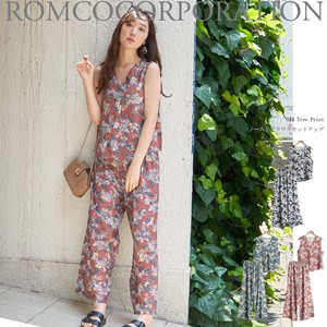 For Summer Print Sleeveless Blouse Suit Set