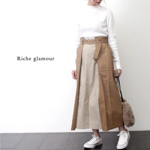 A/W Twill Color Scheme Tuck Skirt