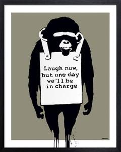 アートフレーム バンクシー Banksy Laugh Now