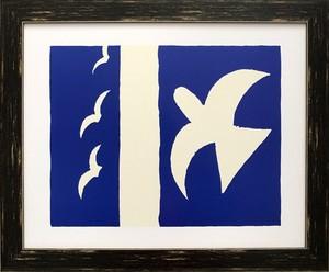 アートフレーム 名画 ジョルジュ・ブラック  Georges Braque Oiseaux,1955 L(BK)
