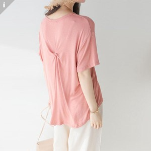 Behind Twist Short Sleeve Top T-shirt