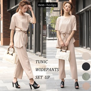 For Summer Belt Attached Pants Suit Set