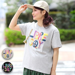T-shirt Top Ladies T-shirt Short Sleeve Colorful Print Embroidery