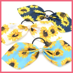 Sunflower Print Ribbon Hair Elastic