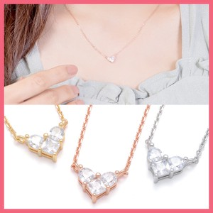 Cubic Heart Heart Star Necklace