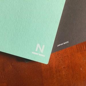ノンブルノート「N」(#06ミントグリーン×チョコレート)