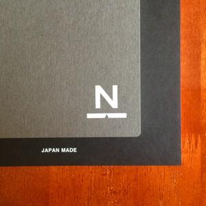 ノンブルノート「N」(#14ダークグレー×ブラック)