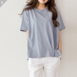 pin Tuck Short Sleeve Top T-shirt