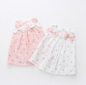 Korea Kids Ribbon One-piece Dress