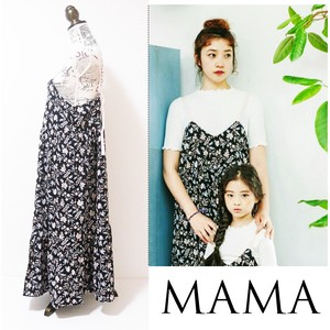 S/S Parent And Child Floral Pattern Cami One-piece Dress Trip Fashion Ladies