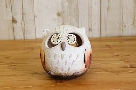 SHIGARAKI Ware Owl Light Owl Handmade Pottery Lighting Lighting Interior Electrical