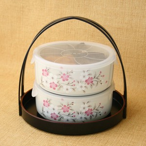 Mino Ware Handy Tray Mino Ware Sakura Save Storage Container Pack