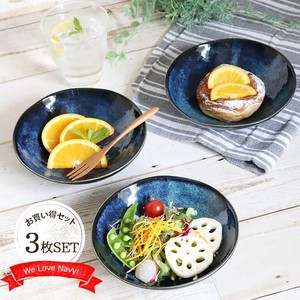 Kiln Change Navy Bowl 3 Pcs Mino Ware Bowl Mini Dish Tonsui