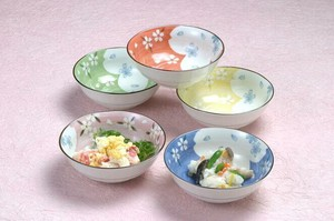 Mino Ware Mini Dish 5 Colors Mino Ware Sakura Pastel Color Mini Dish Mini Dish