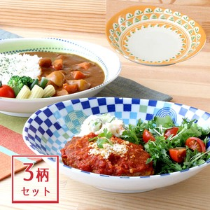 Oval Plate Colorful Divided Plate Oval Plate Mino Ware Plates & Utensil