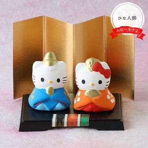 Kitty Matsuri Hina Doll Doll Seto ware Interior Ornament Hello Kitty cat
