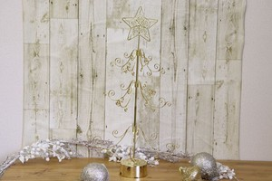 Gold Star Tree Christmas Smallish Indoor Beautiful Gift Gift Present