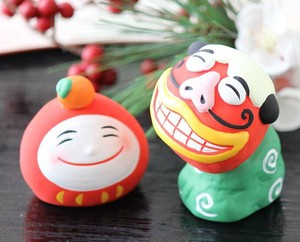 Shishimai Daruma Ornament Interior Fortune Hand-Painted New Year Smile Doll Geisyun