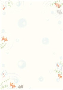 A4 Post Card Japanese Pattern Paper Goldfish