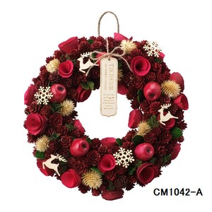 クリスマスリース (Natural wreath) NATURAL RED  No.6 クリスマス Christmas X-mas