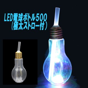 LED Light Bulb Bottle Thick Straw