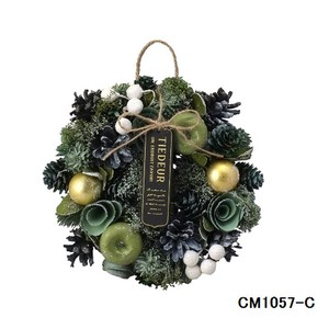 クリスマスリース (Natural wreath) FOREST GREEN  No.1 クリスマス Christmas X-mas