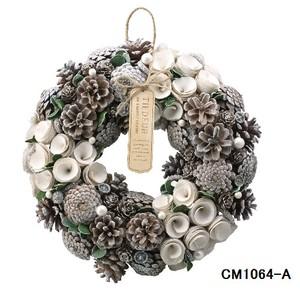 【予約販売】クリスマスリース (Natural wreath) FOREST WHITE No.1 クリスマス Christmas X-mas