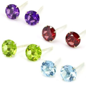Natural stone Pierced Earring Birthstone