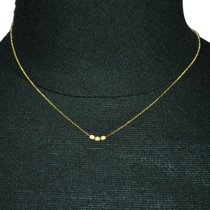 Mat Gold Beads Petit Necklace
