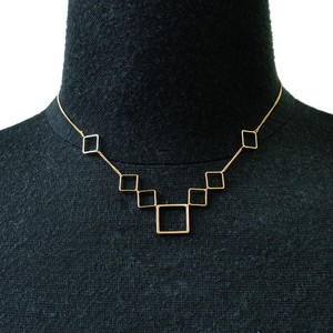 Square Metal Parts Necklace