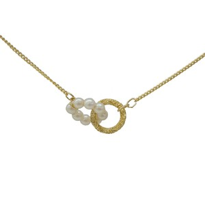 Pearl Gold Ring Matching Necklace