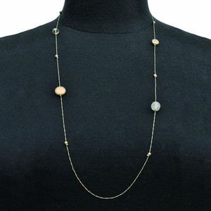 Material Parts Long Necklace