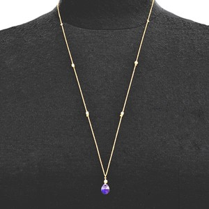 Tanzanite Swarovski Top Long Necklace