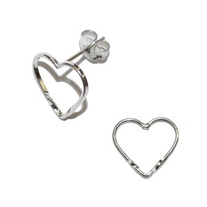 Twist Heart Pierced Earring